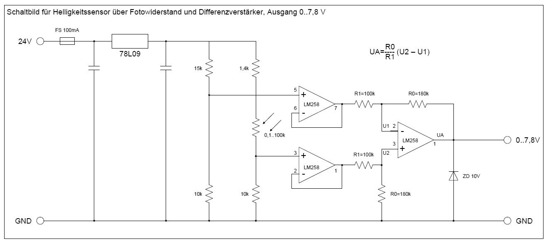 Helligkeitssensor für SPS 0-10V